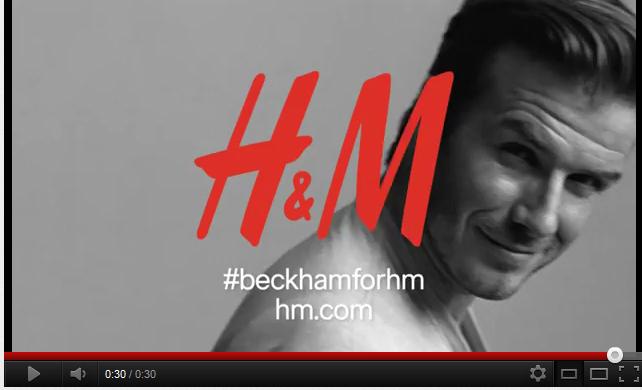 d couvrez la pub h m et david beckham qui sera diffus e lors du super bowl 2012. Black Bedroom Furniture Sets. Home Design Ideas