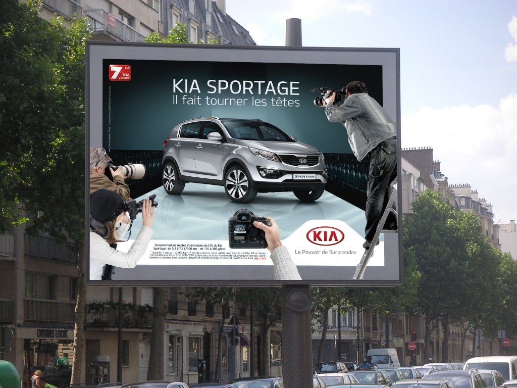 un dispositif d 39 affichage v nementiel surprenant pour le kia sportage. Black Bedroom Furniture Sets. Home Design Ideas