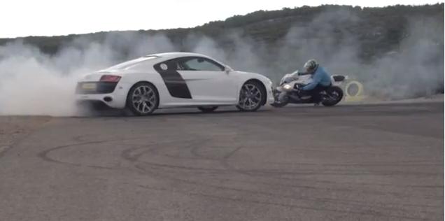 Jorian Ponomareff D 233 Fie Une Audi R8 Sur Sa Moto Drift