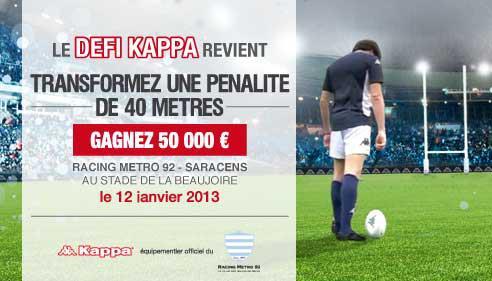 défi kappa racing métro 92 50 000€ pénalité rugby