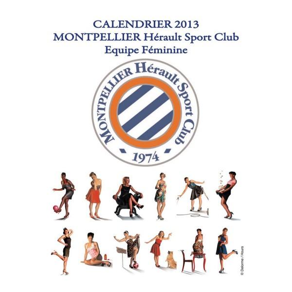 Foot f minin montpellier d voile son calendrier 2013 glamour sur le th me pin up des ann es 50 - Logo montpellier foot ...