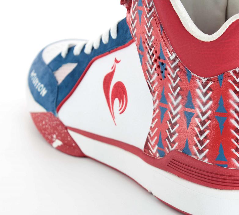 Basket Le Coq Sportif Bleu Blanc Rouge