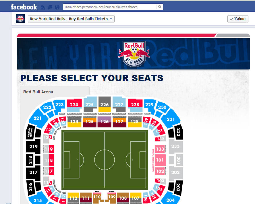 New York Red Bulls entradas para Facebook