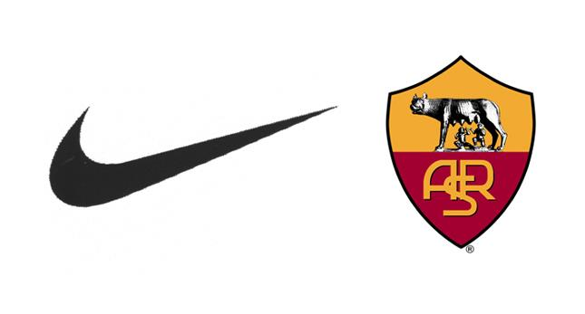 nike AS Roma sponsoring serie A football maillot