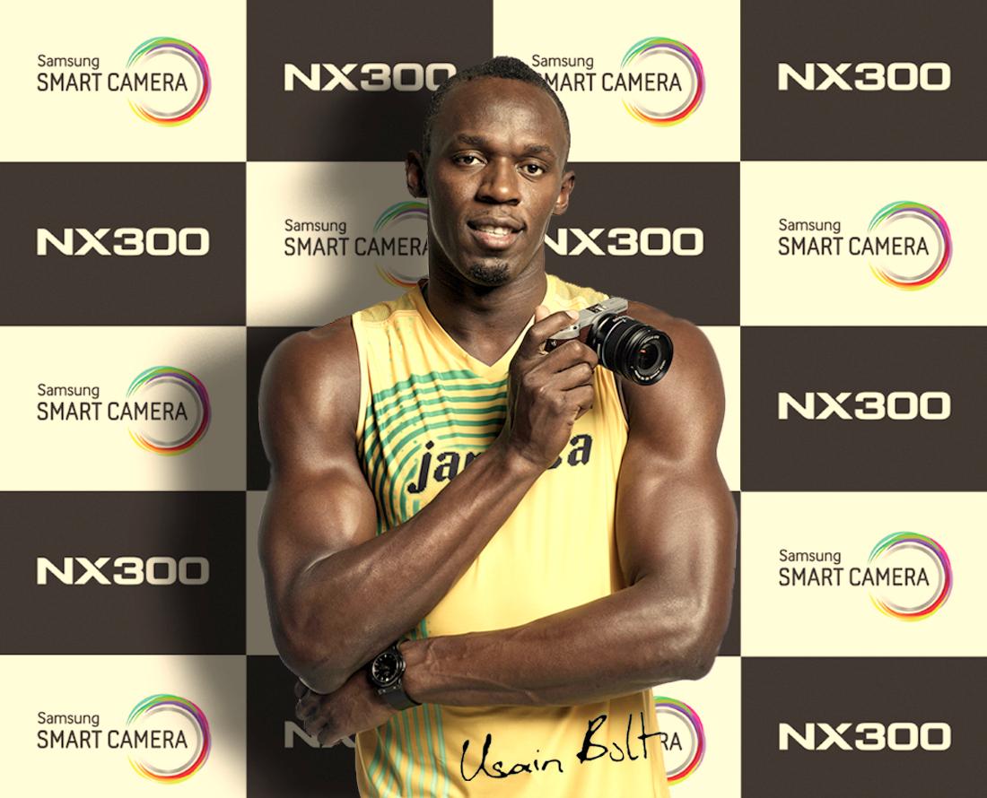 samsung Usain Bolt NW300 sponsoring