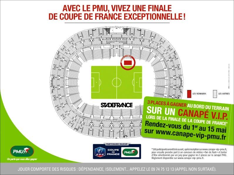 Vivez la finale de la coupe de france depuis un canap vip install au bord d - Stade de france place vip ...