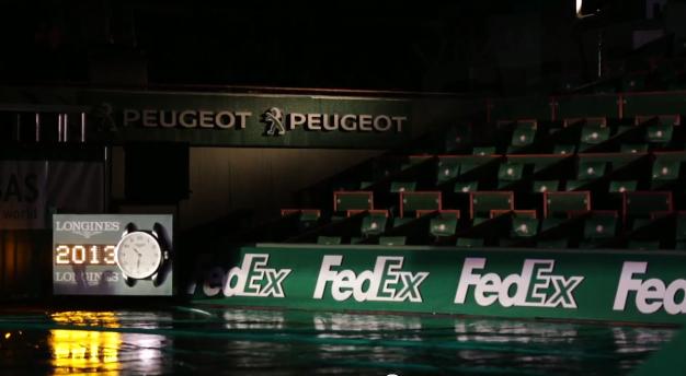 fedex peugeot roland garros 2013 nouveau look courts tennis sponsors 3D