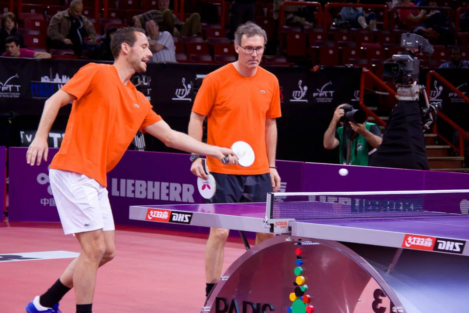 michaël llodra laurent blanc mondial ping ping star ping pong tennis de table bercy 2013