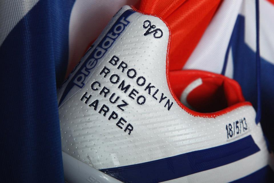 PSG David Beckham portera une paire d'adidas aux couleurs