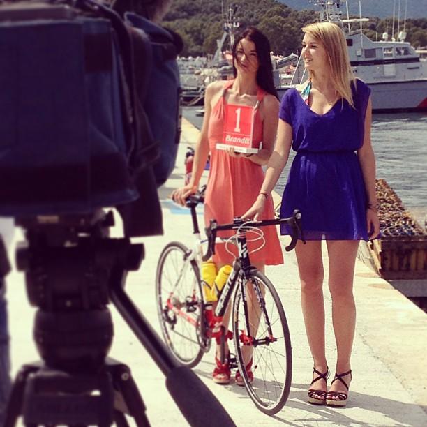 Glamour hôtesses tour de france 2013 brandt prix de la combativité