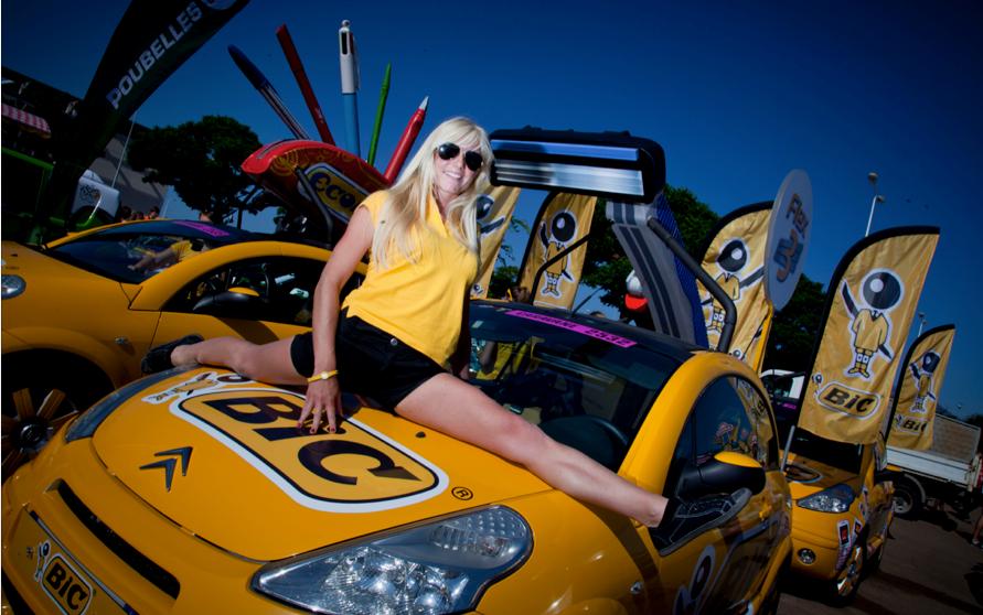 Hôtesse BIC Tour de France 2013 caravane publicitaire