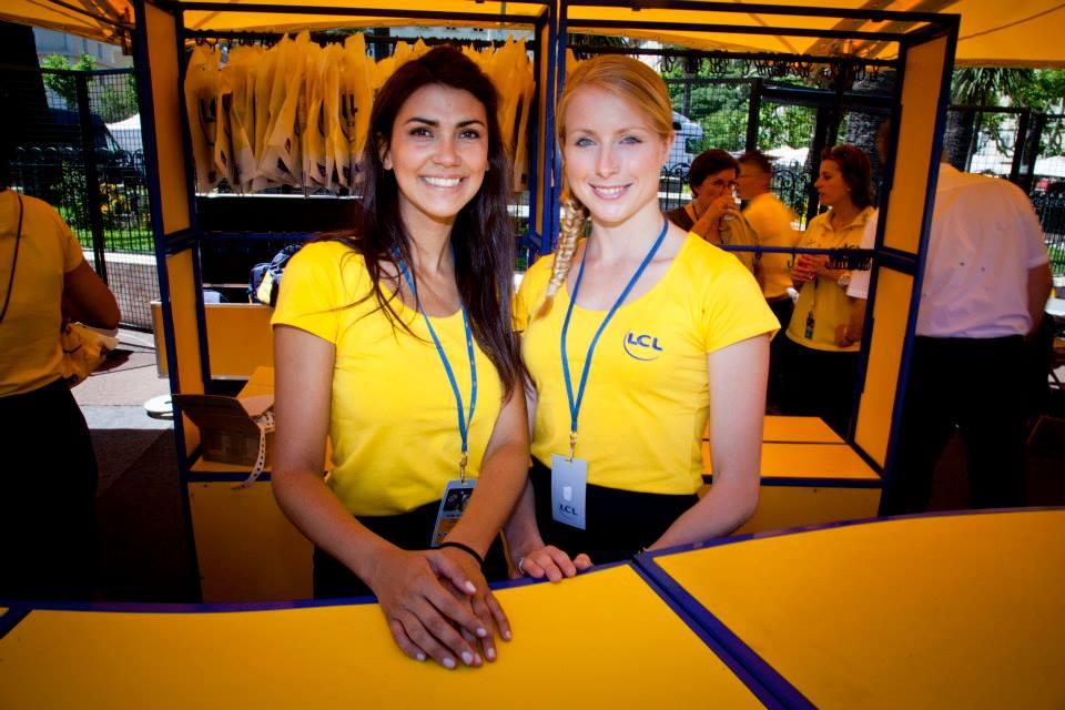 hôtesses LCL vestiaire tour de france 2013
