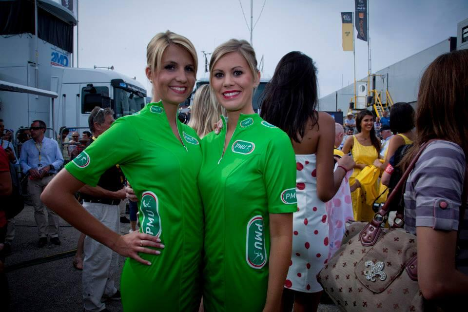 hôtesses PMU podium maillot vert Tour de France 2103 Glamour