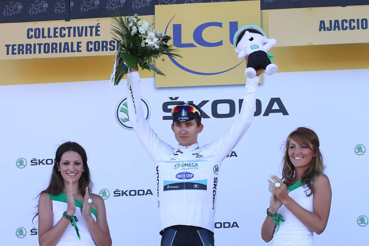 hôtesses Skoda podium maillot blanc tour de france 2013