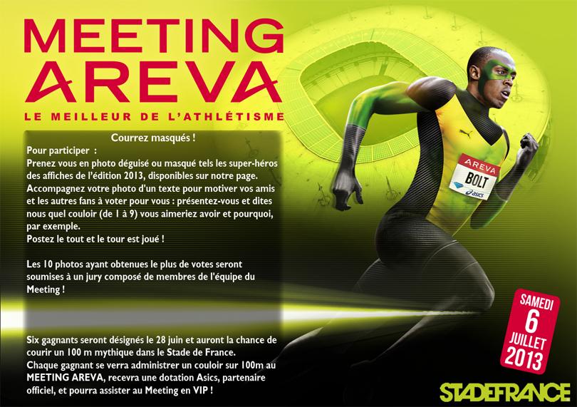 meeting areva 2013 usain bolt concours 100 m masqués