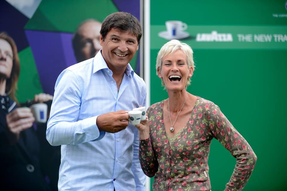 Judy Murray Toni Nadal Lavazza wimbledon 2013 tennis sponsoring