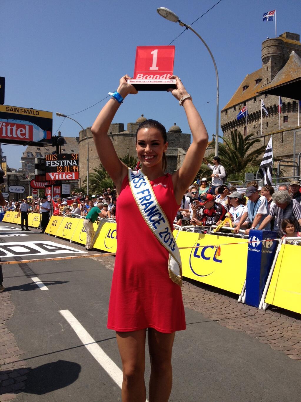 Marine Lorphelin hôtesse tour de france 2013 brandt