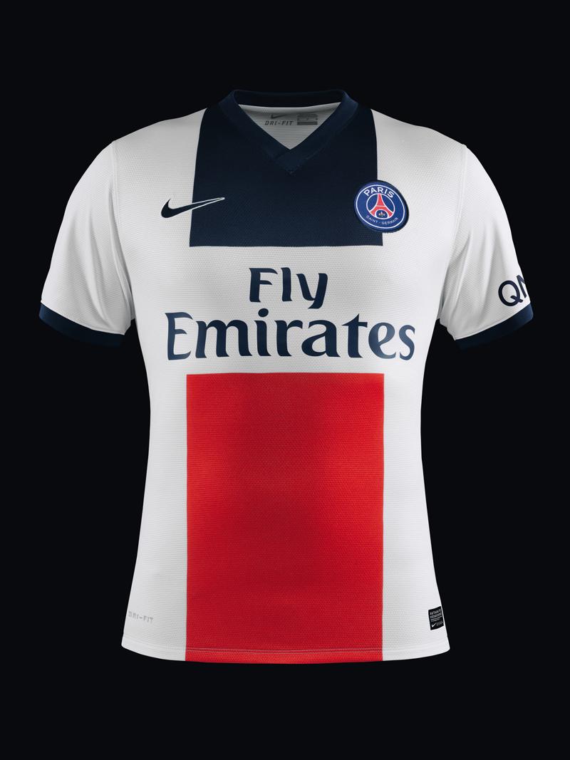 Psg nouveau maillot ext rieur 2013 2014 nike for Maillot exterieur psg
