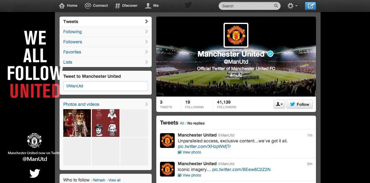 Mancheter United Twitter
