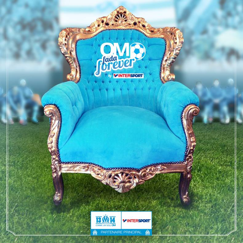Golden seat OM intersport OM fada fever fauteuil VIP