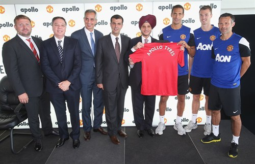 apollo Tyres Manchester united sponsor