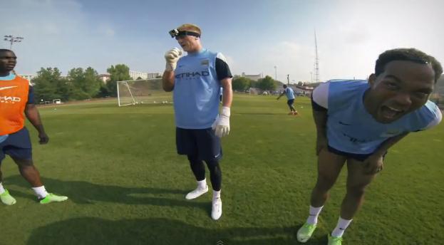 goPro Manchester City hart goalkeeper camera