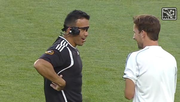 ref cam MLS ALL Star game 2013 AS Roma arbitre Hilario Grajeda