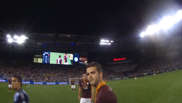 ref cam MLS ALL Star game 2013 AS Roma pjanic