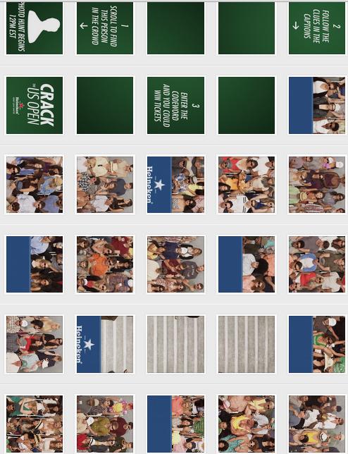 us open crack the us open Heineken instagram tennis