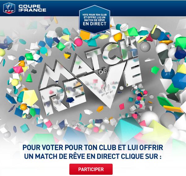 Coupe de france la fff offre nouveau un match de r ve un club amateur - Match de coupe de france en direct ...