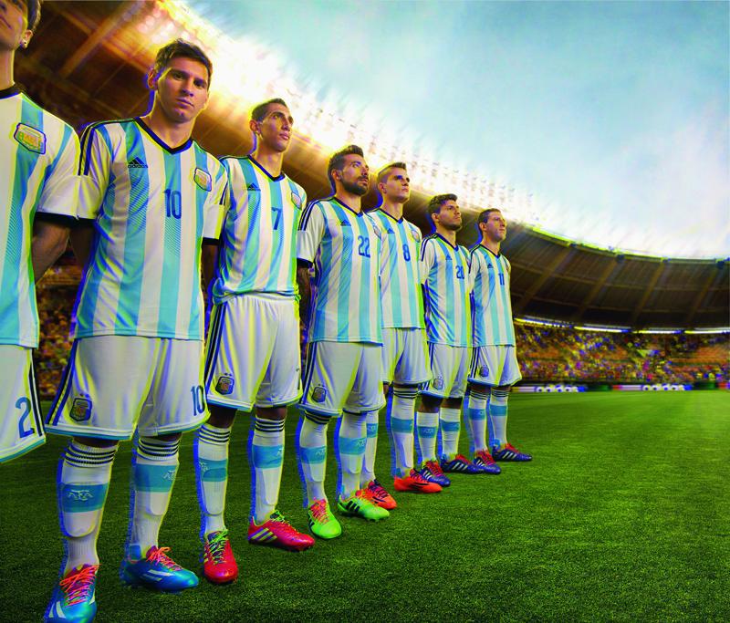 Coupe du monde 2014 nouveau maillot de l 39 argentine adidas - Equipe argentine coupe du monde 2014 ...