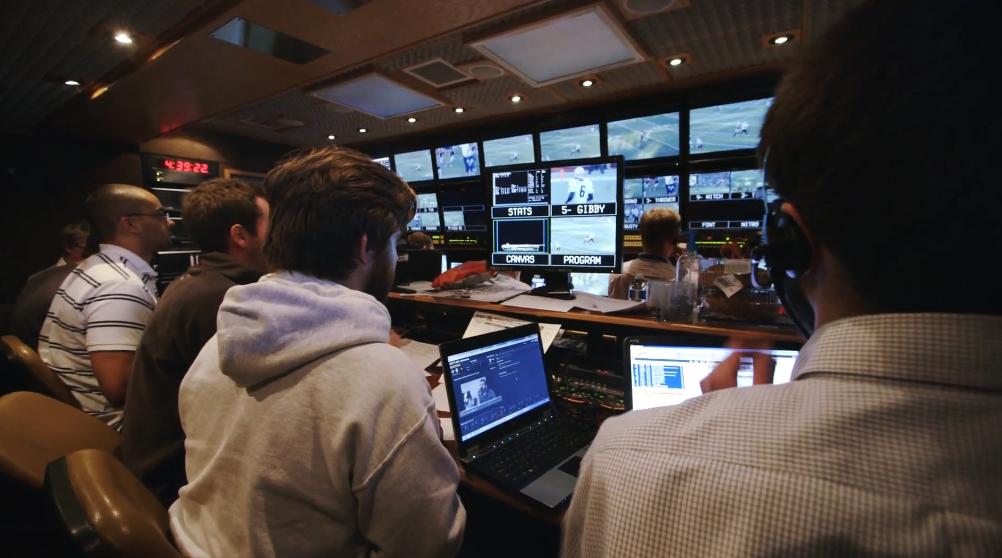 Plongez dans les coulisses d 39 une retransmission tv d 39 un match nfl sur fox vid o - Retransmission tv coupe davis ...