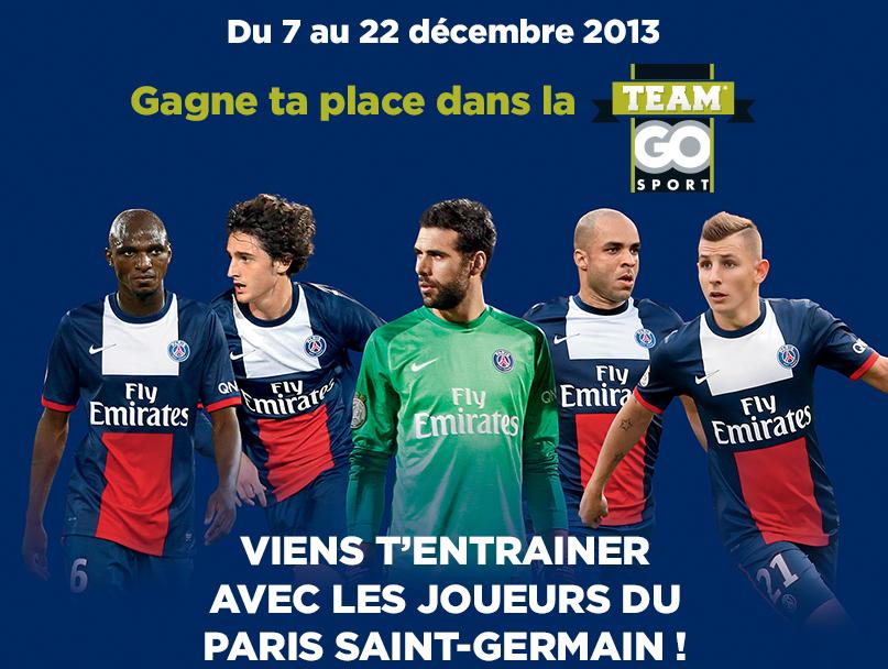 team go sport PSG concours entraînement paris saint-germain GO SPORT