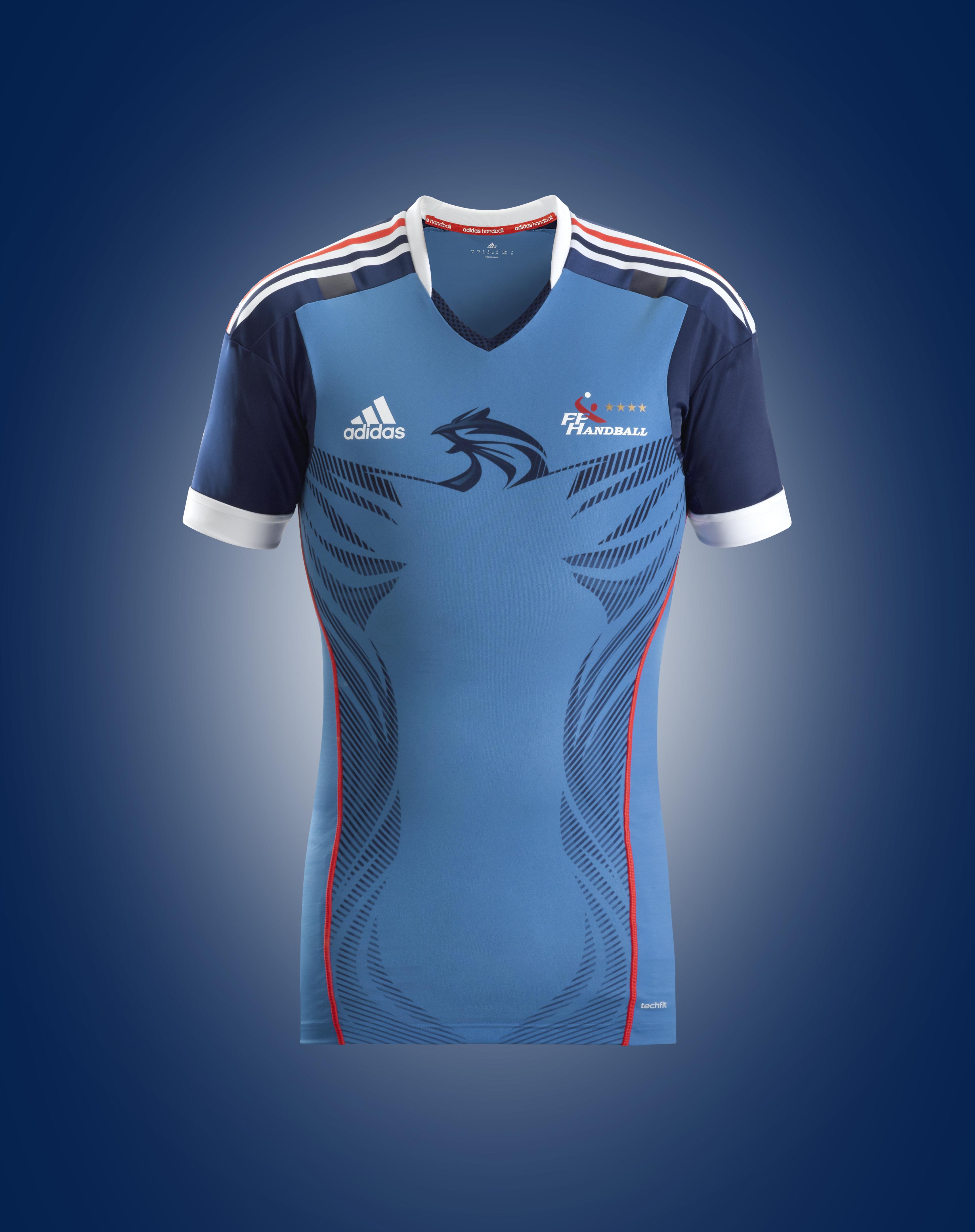 nouveaux maillots de l 39 equipe de france de handball adidas. Black Bedroom Furniture Sets. Home Design Ideas