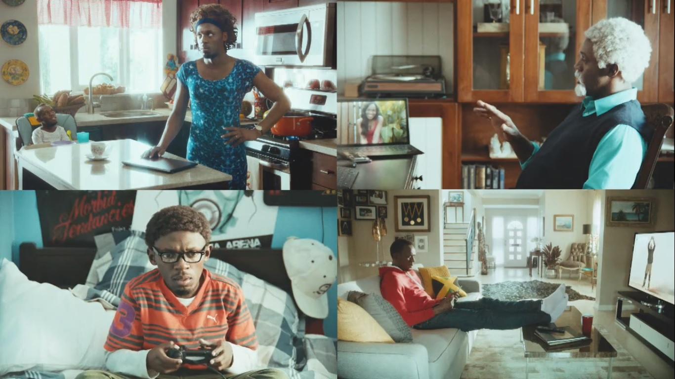 family bolt virgin media usain bolt ad tv