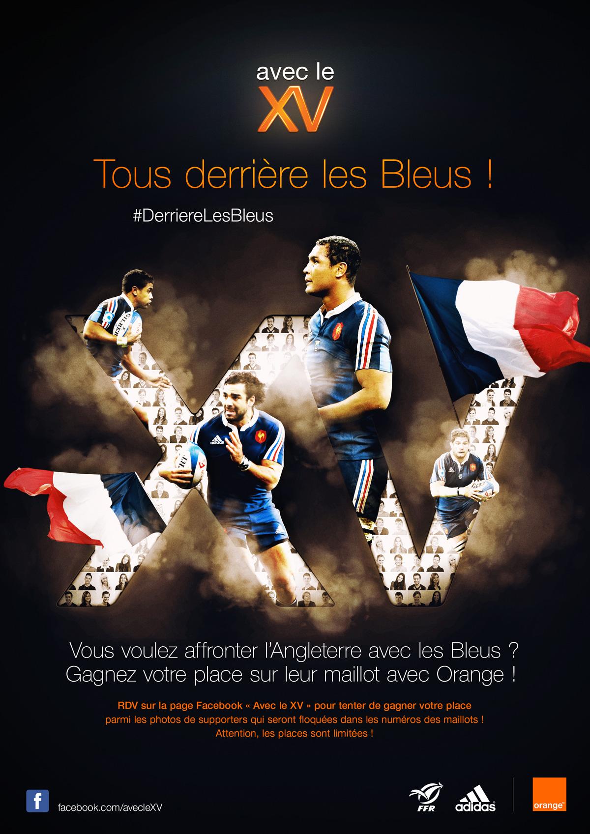 orange Xv de france photo maillot rugby france supporter